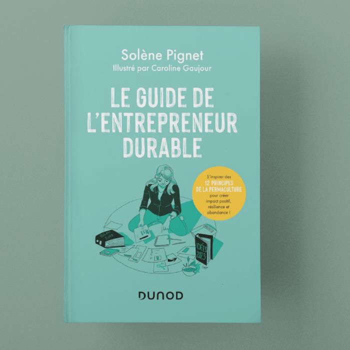 Solène - mockup - livre - le guide de l'entrepreneur durable